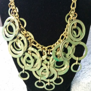 BRASS RINGED NECKLACE